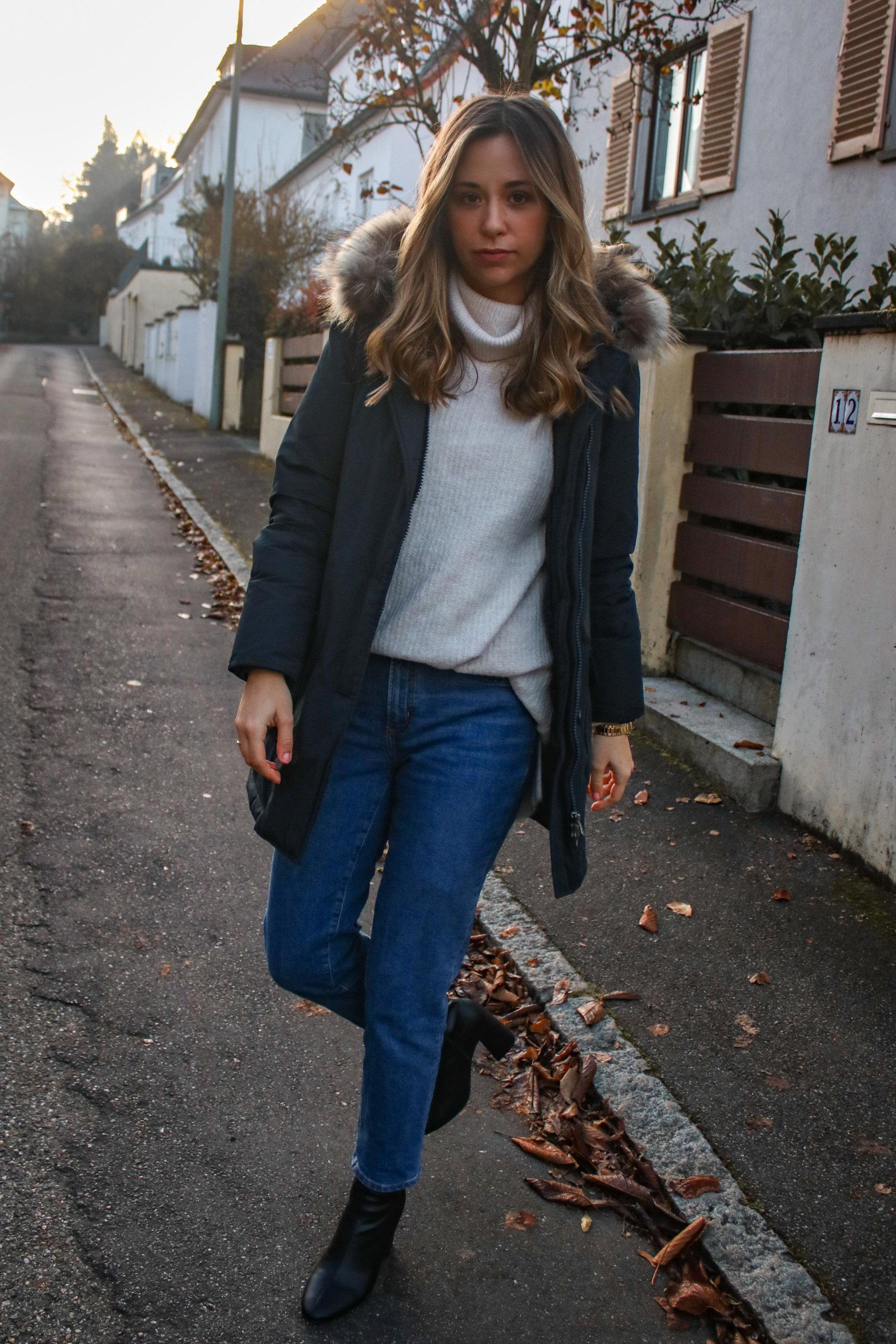 Meine liebste Winterjacke – Woolrich Winterparka & Basic Outfit
