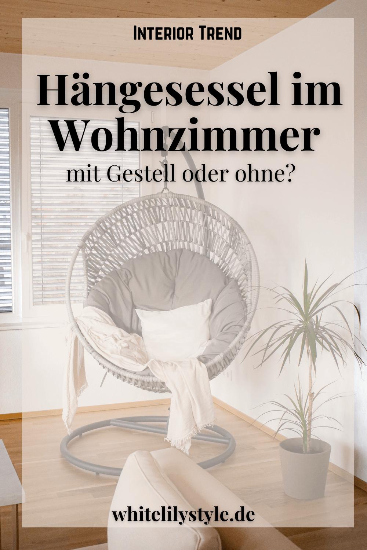 Hängesessel im Wohnzimmer – mit Gestell oder ohne? Finde den richtigen Hängesessel