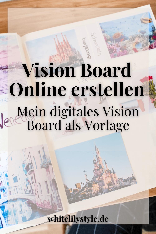 Vision Board online erstellen – mein digitales Vision Board als Vorlage