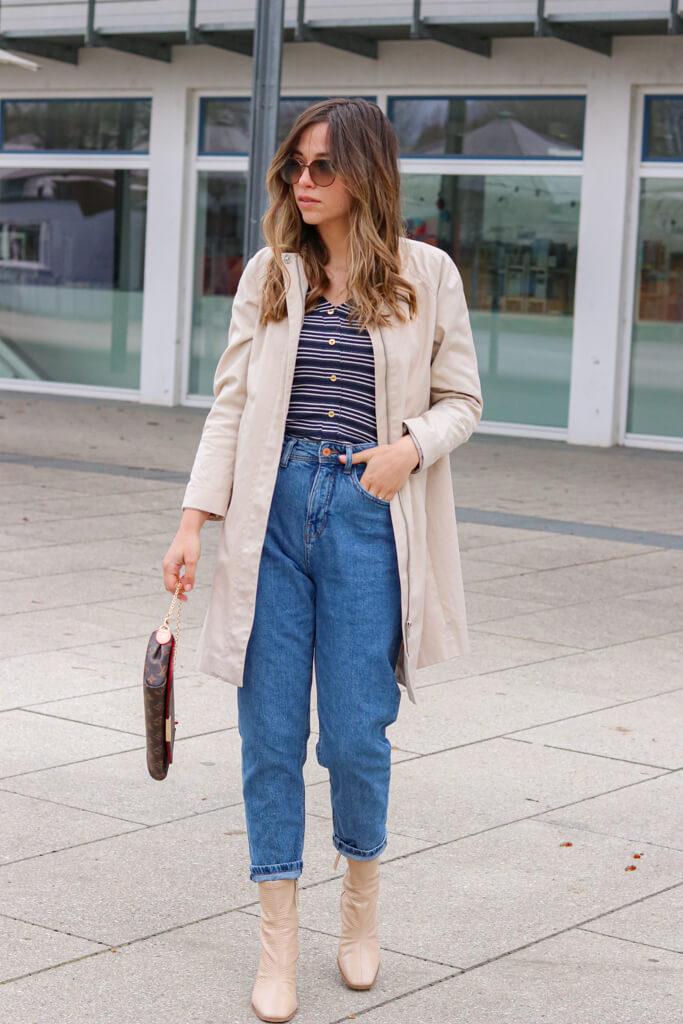 Mein Outfit mit Mom Jeans und High Heel Boots