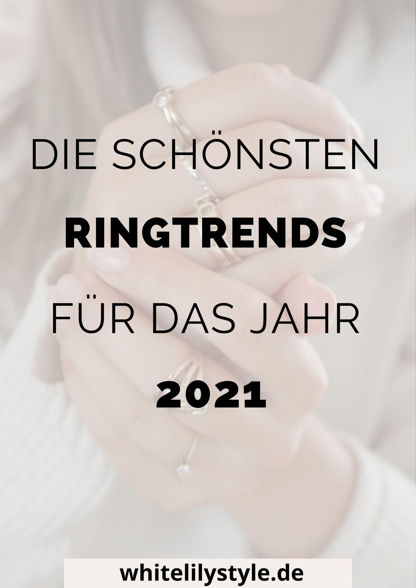 Die Ringtrends 2021 - diese Schmucktrends solltest du nicht verpassen!