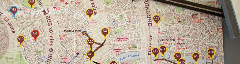 Karte map london tipps Sehenswürdigkeiten städtereise kurztrip sightseeing London geheimtipps must see